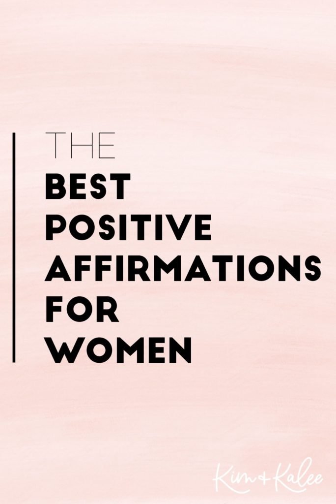 Best Daily List of Positive Affirmations for Women