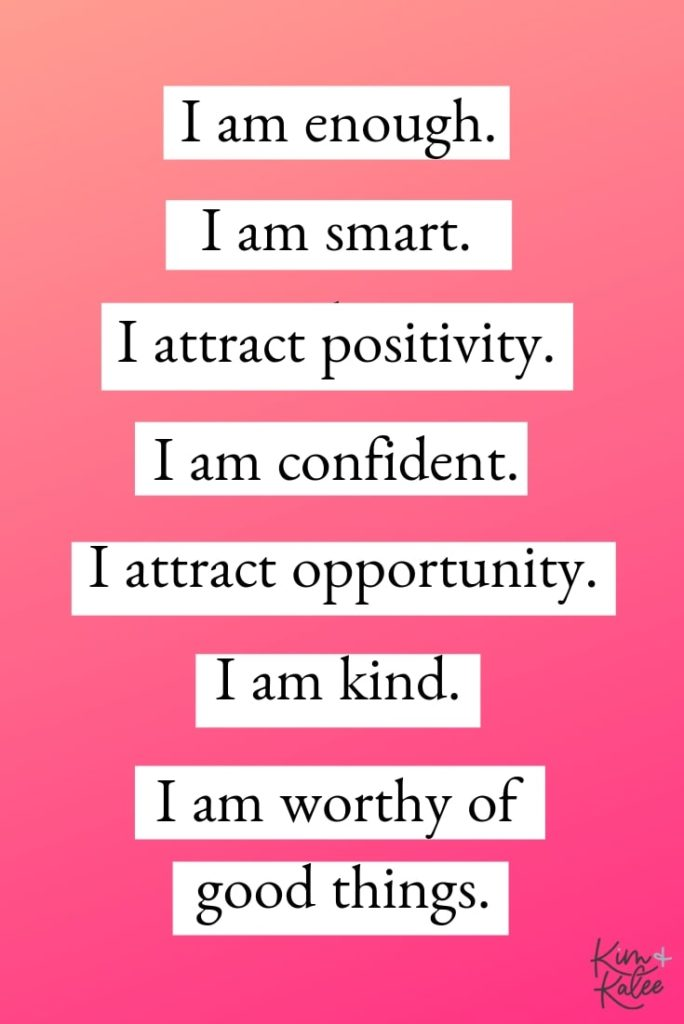 Daily List of Positive Affirmations for Women