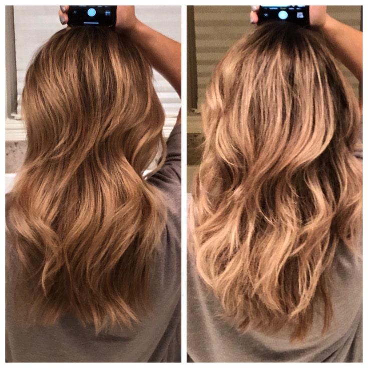 Fanola Purple Shampoo Before and After Photo
