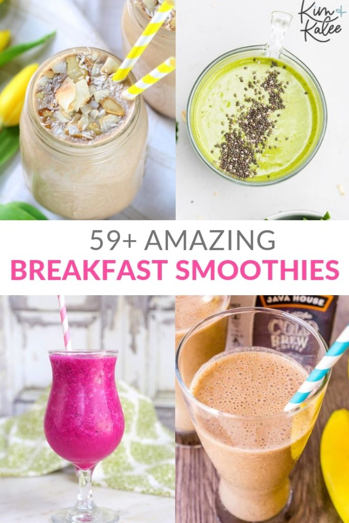 Healthy Breakfast Smoothie Recipes Collage