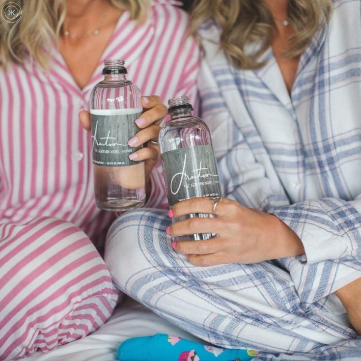 Water Bottles in Room