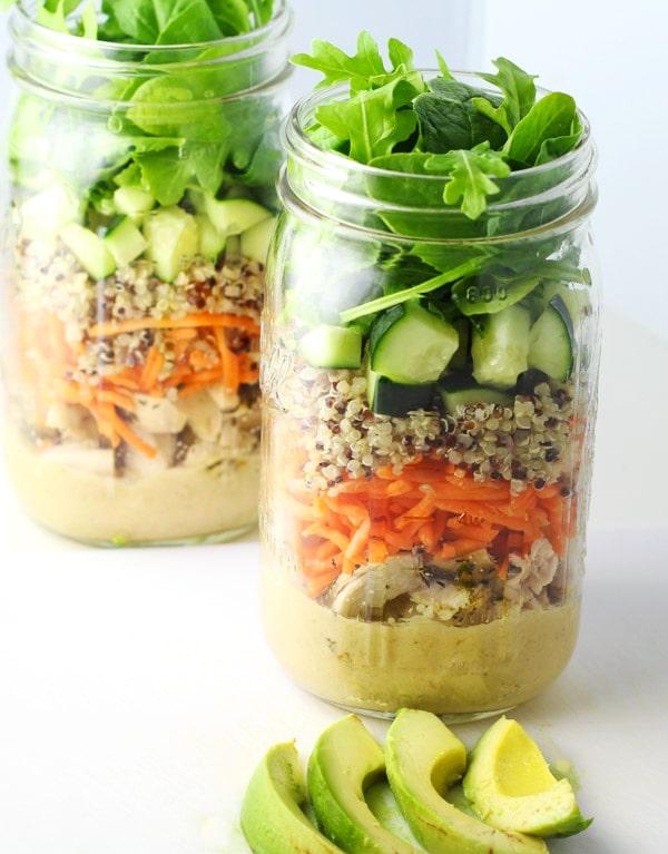 Chicken and Quinoa Mason Jar Salad