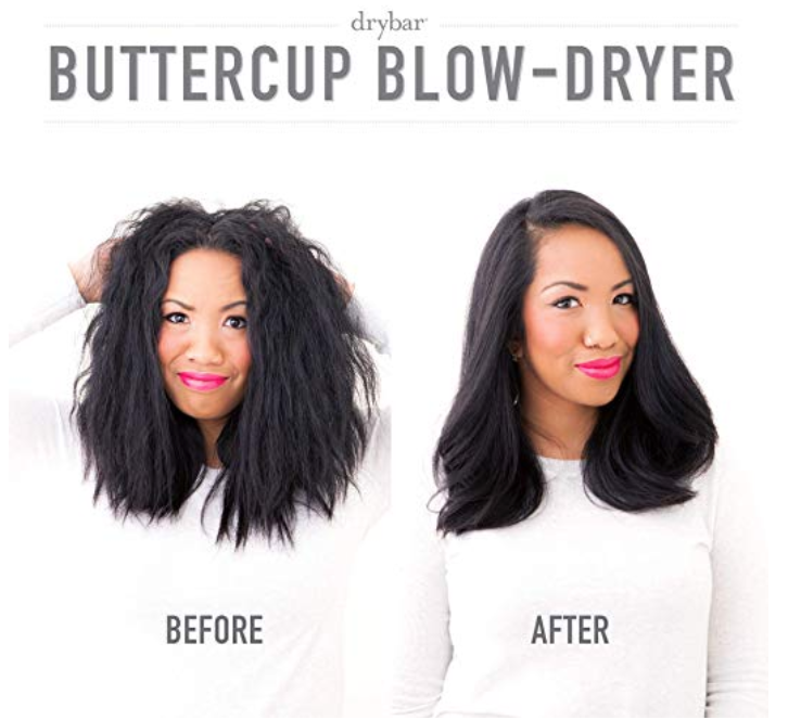 Before and After Using Drybar's Blow Dryer