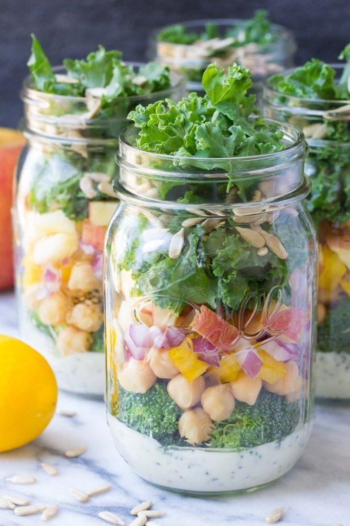 Mason Jar Broccoli Salad