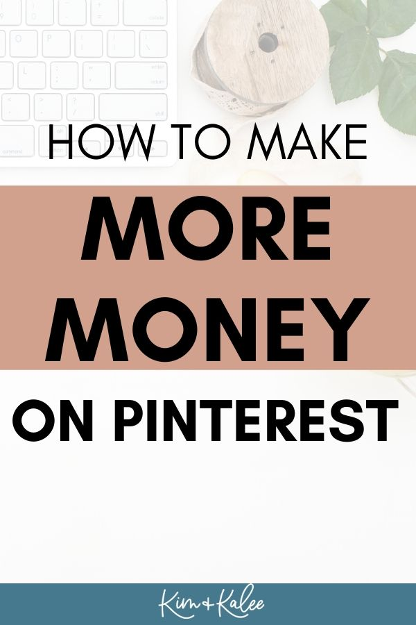 image that says How to make money on Pinterest