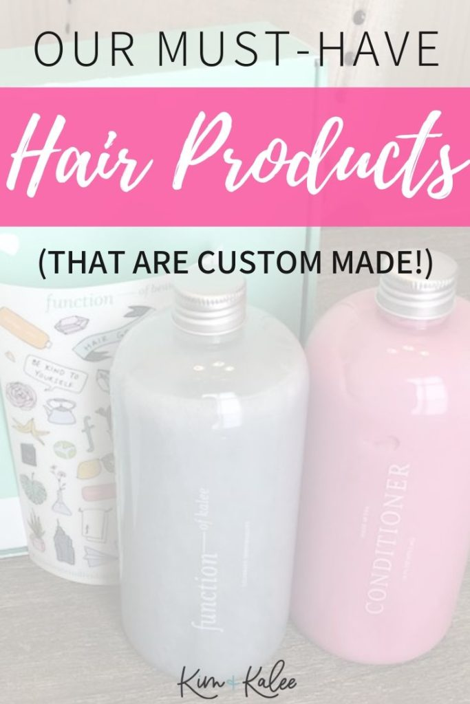 Long photo with print that says Our Must Have Hair Products (That are Custom Made!)
