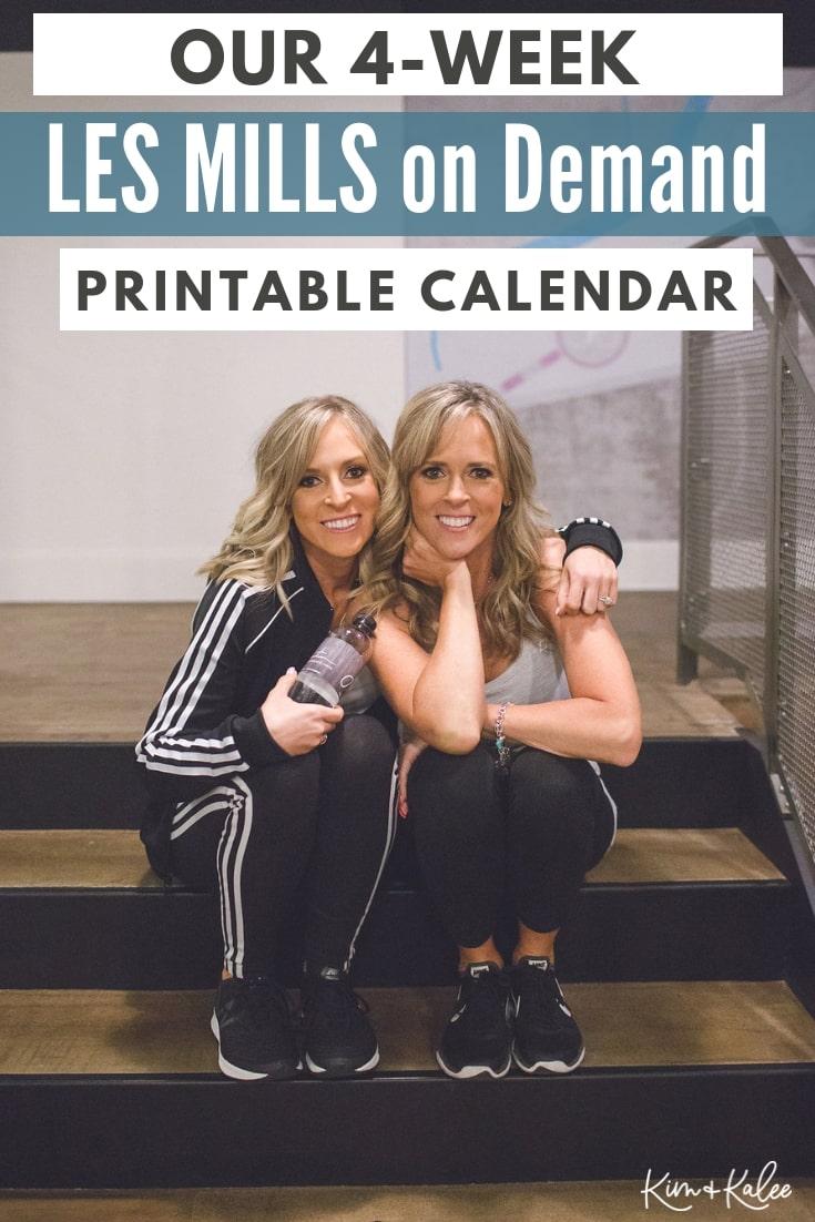 LES MILLS on Demand Workout Calendar - Free Printable