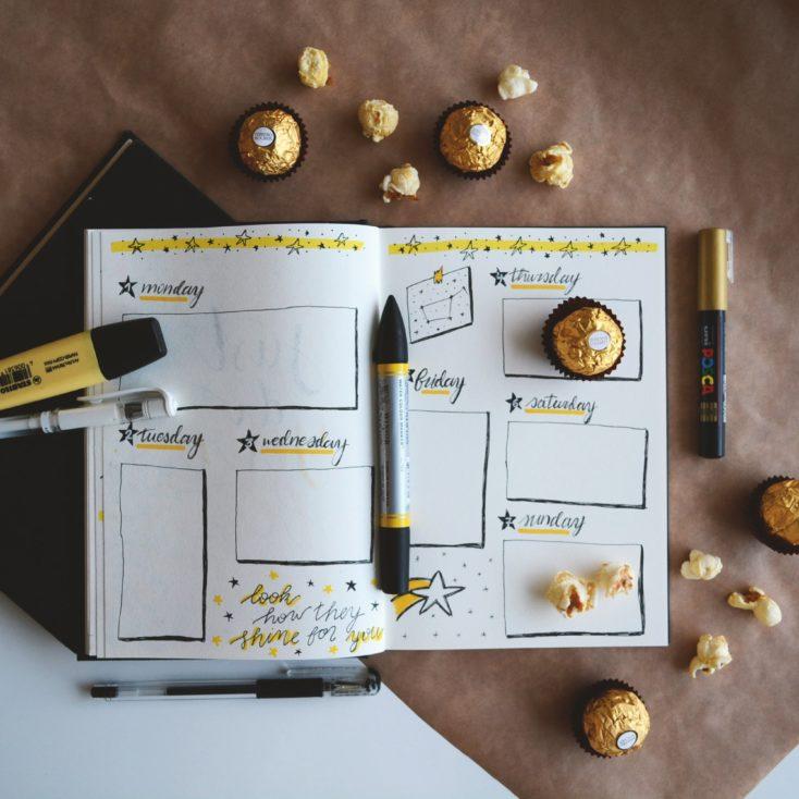 habit tracker bullet journal weekly view