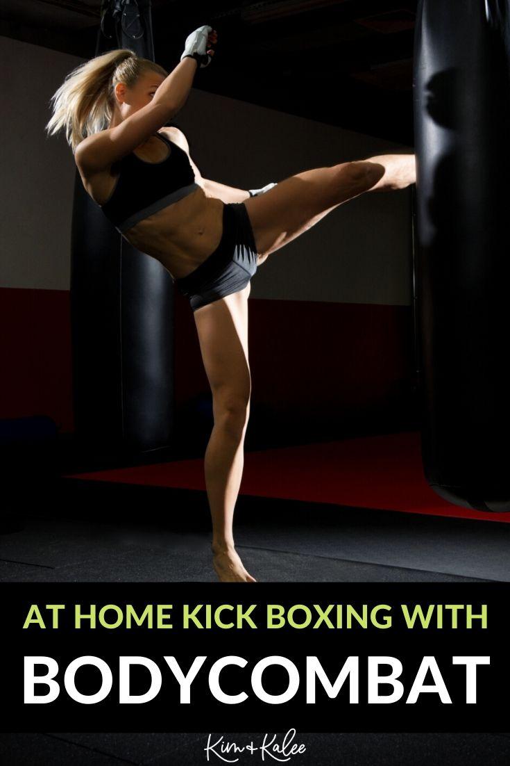 Kickboxing woman doing LES MILLS On Demand's BODYCOMBAT