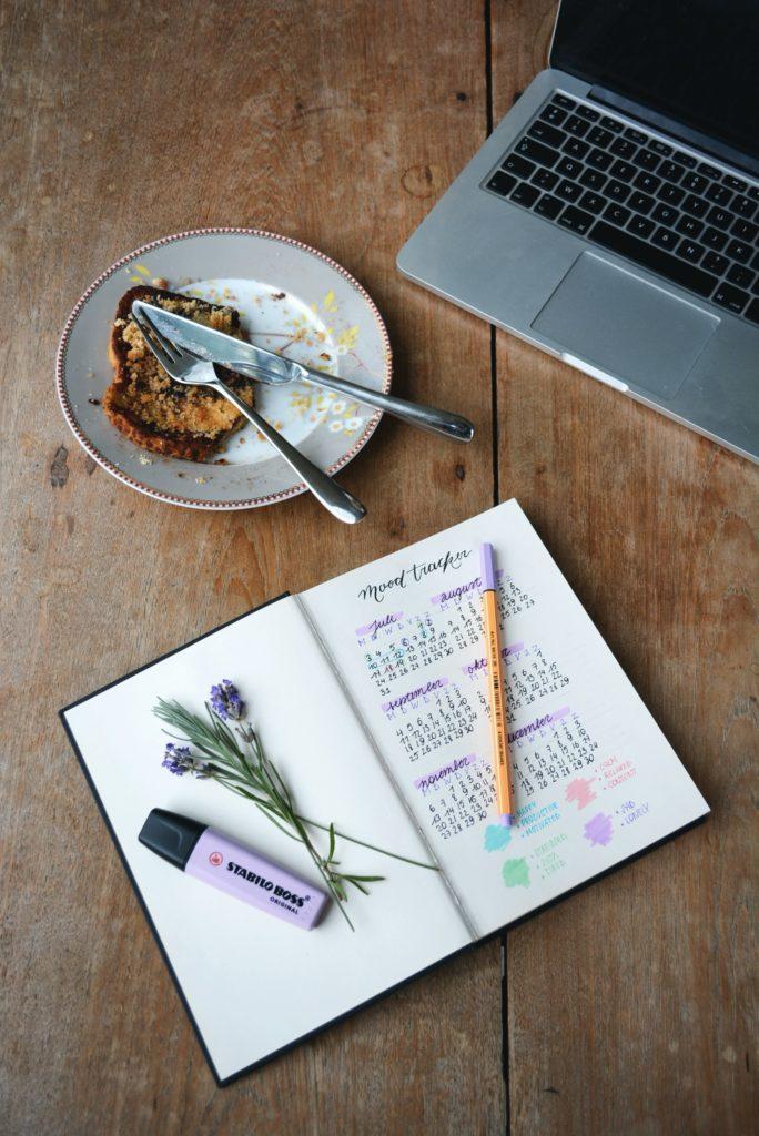 mood tracker in a bullet journal