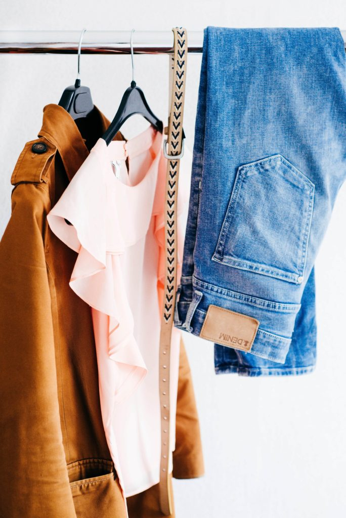 Clothing hanging up