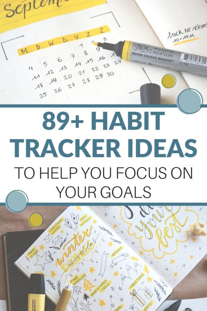 habit tracker ideas pin