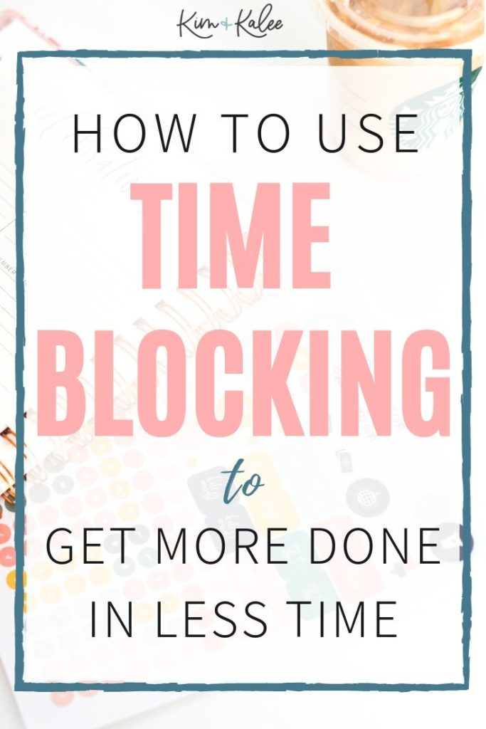 time blocking to increase productivity