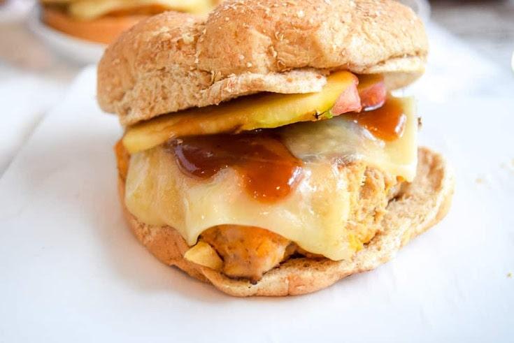 BBQ Apple Sweet Potato Burgers