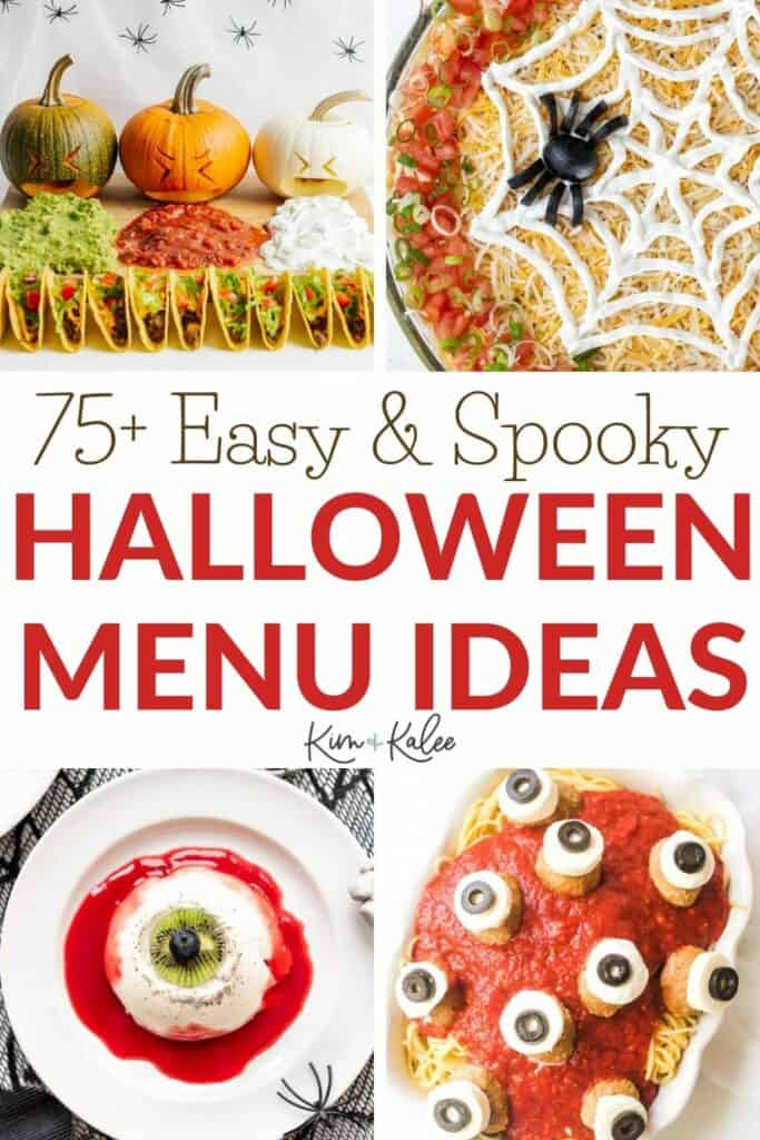 Collage of Halloween Food Ideas for Adults