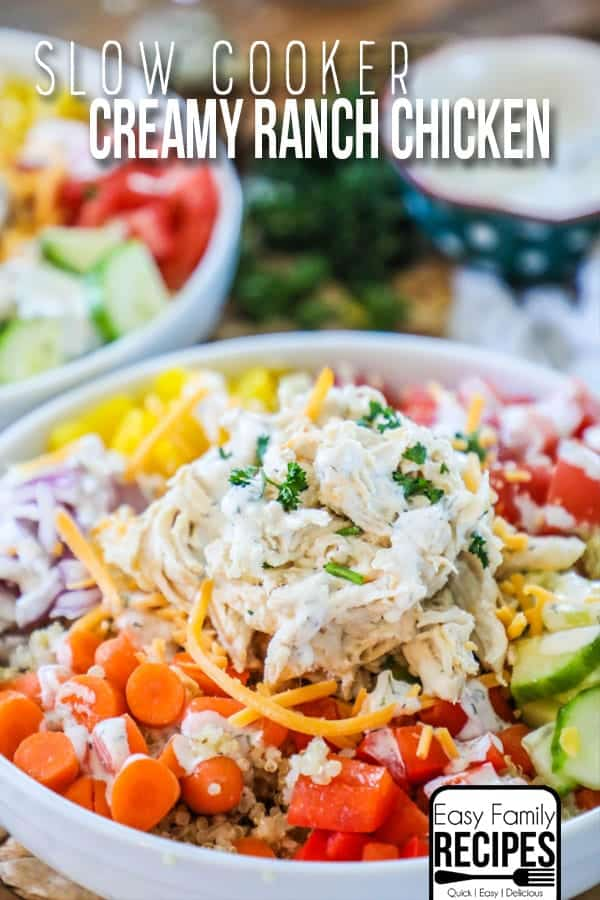 slow cooker creamy ranch chicken with vegetables