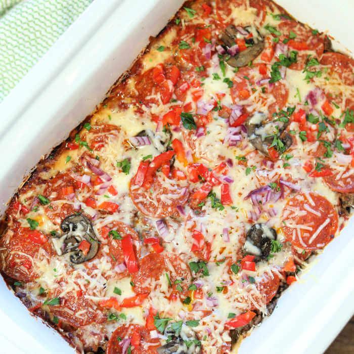 Low Carb Pizza Casserole Recipe
