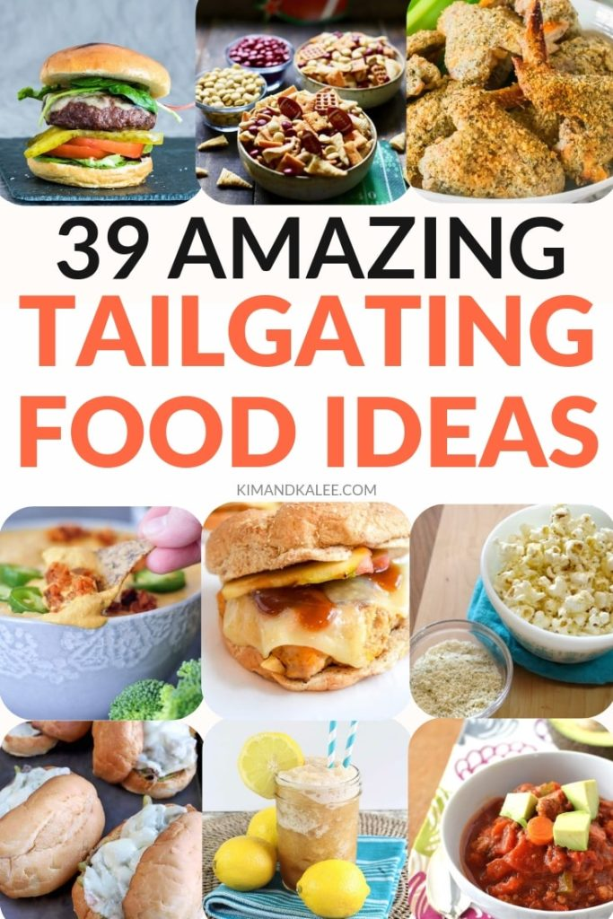 collage of tailgating food ideas