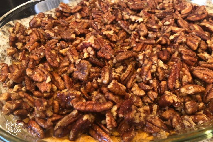 candied paleo pecan topping