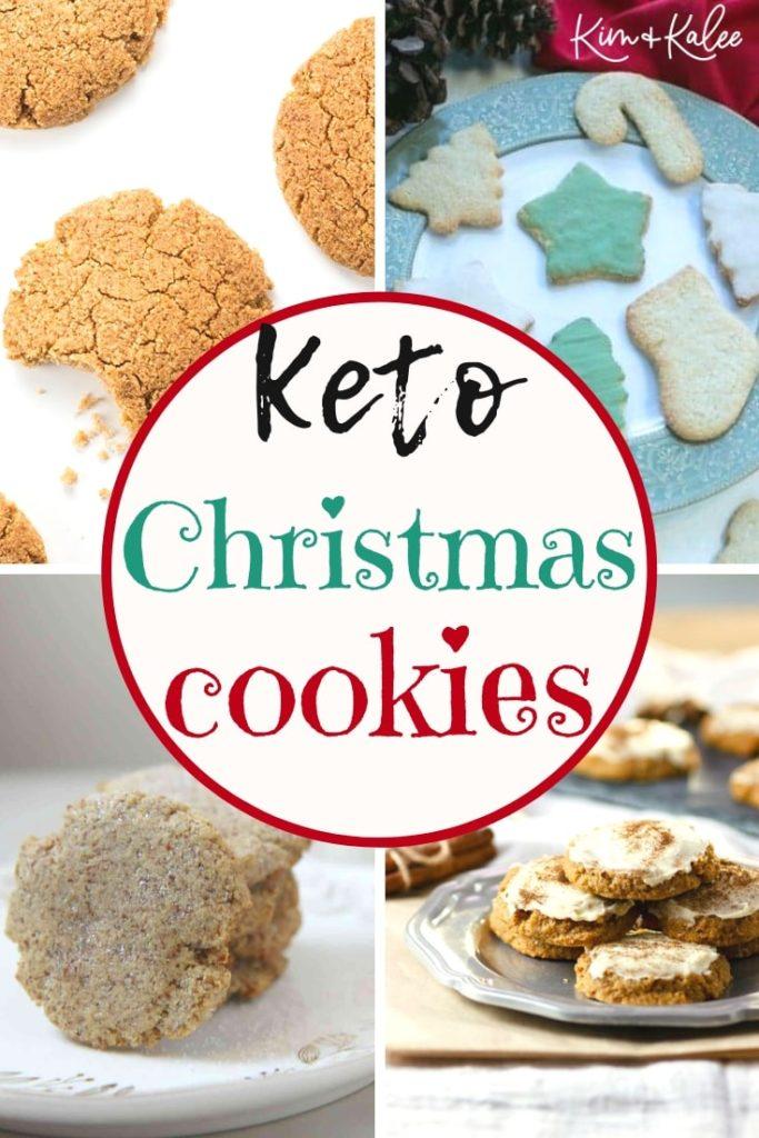 collage of keto Christmas cookies