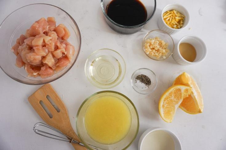 Ingredients for Keto Orange Chicken