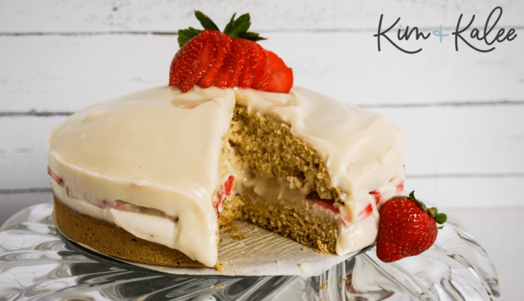 Strawberry Shortcake Cheesecake - Pink and Red for Valentine's Day