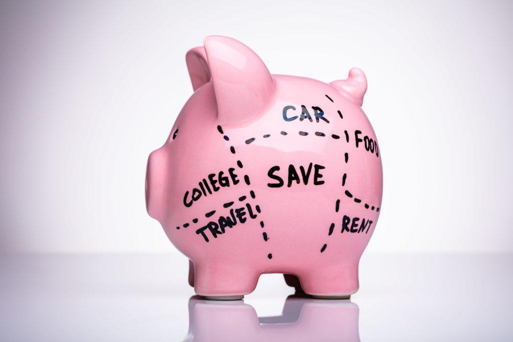 budget categories piggy bank