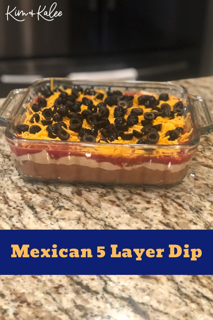 5 Layer Mexican Dip Finished