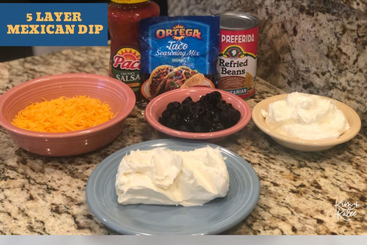 5 Layer Mexican Dip Ingredients