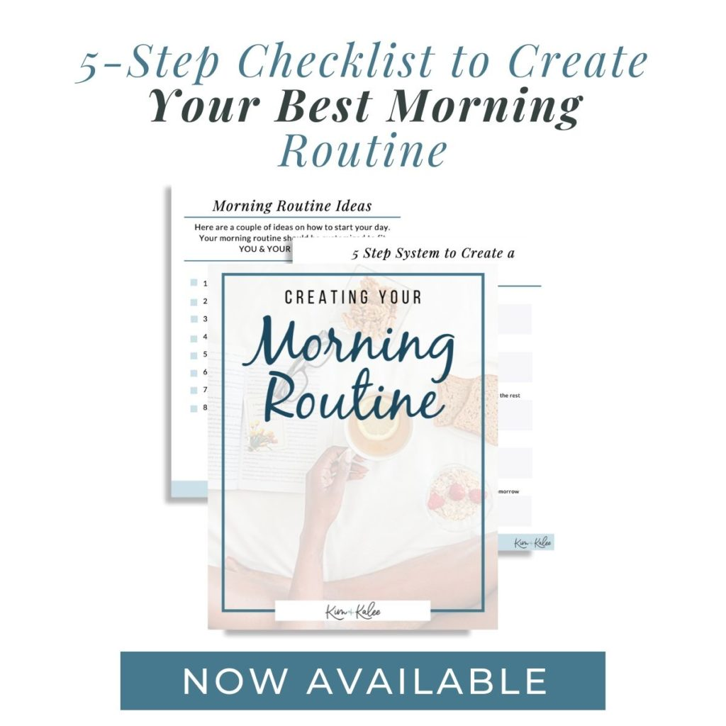 Sample Quick Start Guide for a Morning Routine Checklist