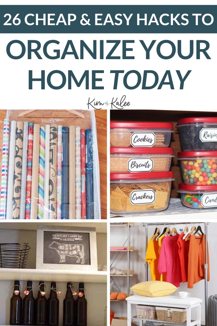 home organization tips collage