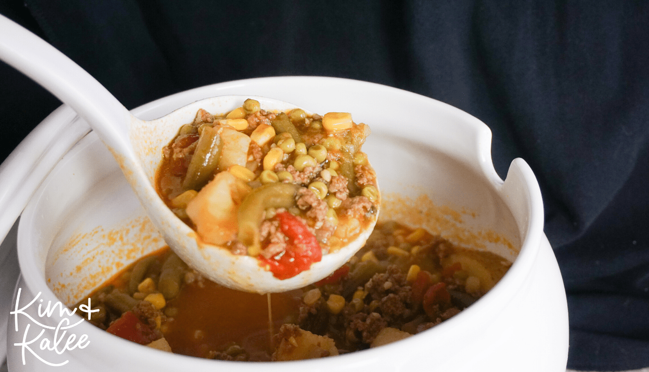 spoonful of instant pot vegetable beef soup