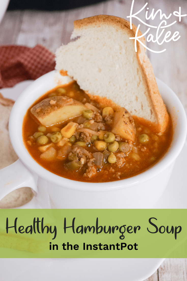 a piece of bread in instant pot vegetable beef soup