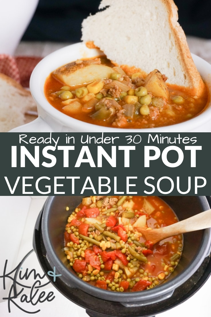Easy Instant Pot Vegetable Beef Soup Recipe with Potatoes and Hamburger