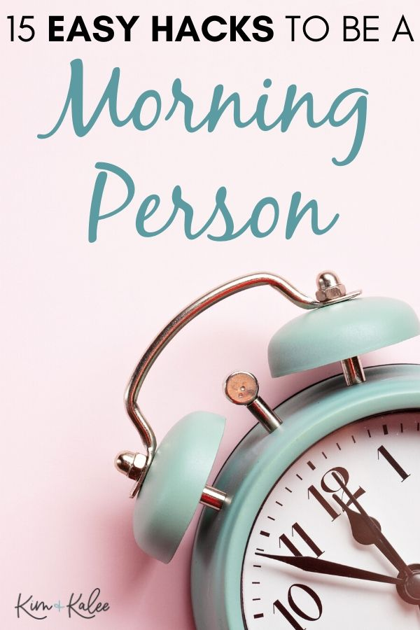 Alarm clock with the words How to Become a Morning Person
