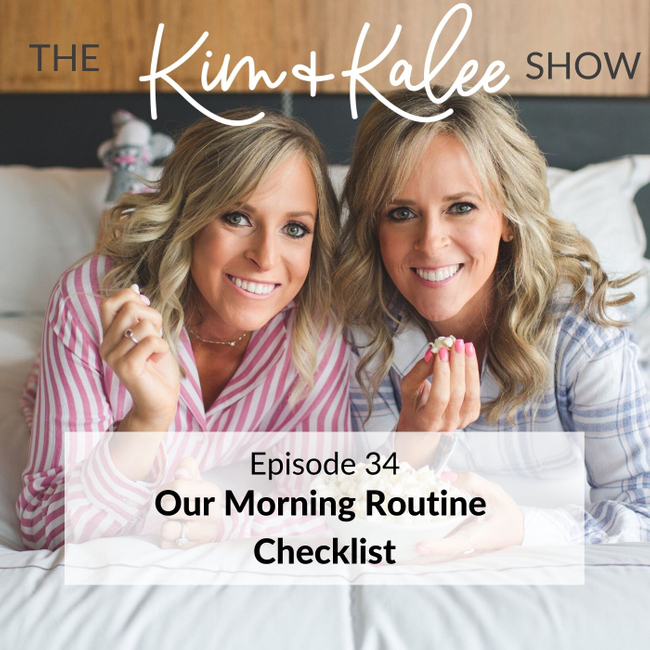 morning routine checklist podcast cover