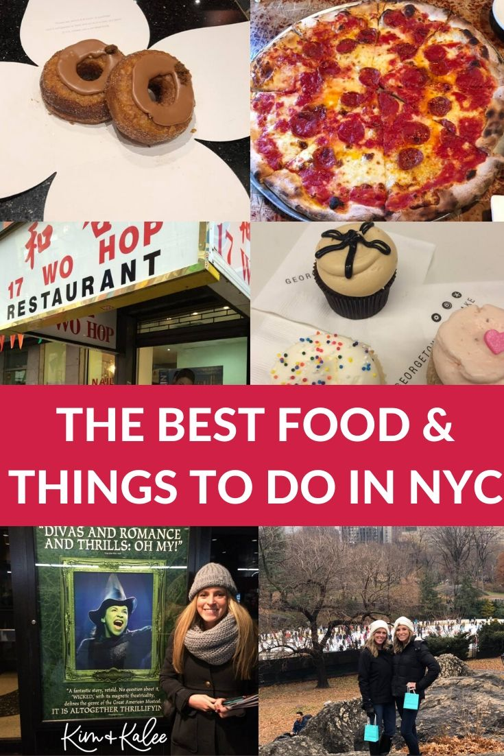 Collage of foods from our favorite NYC Restaurants