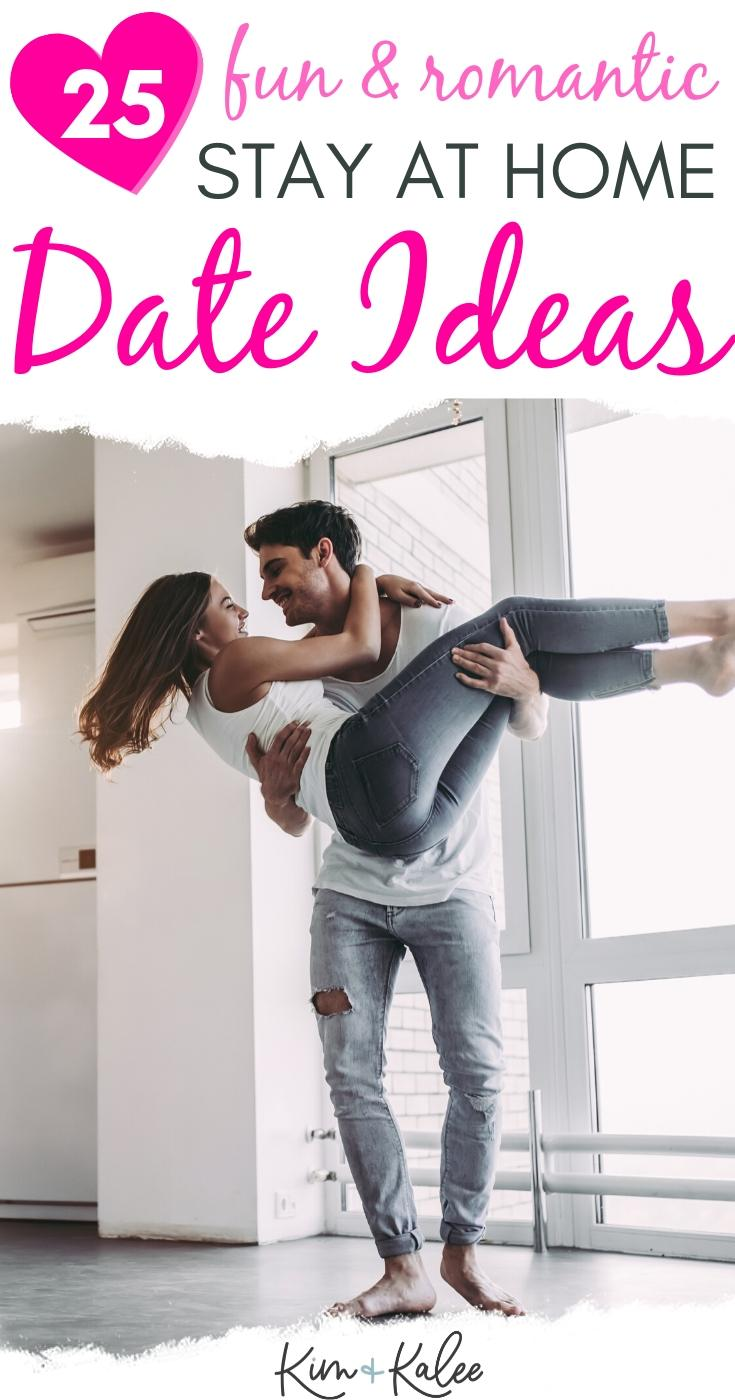 fun and romantic stay at home date ideas with a couple in the picture