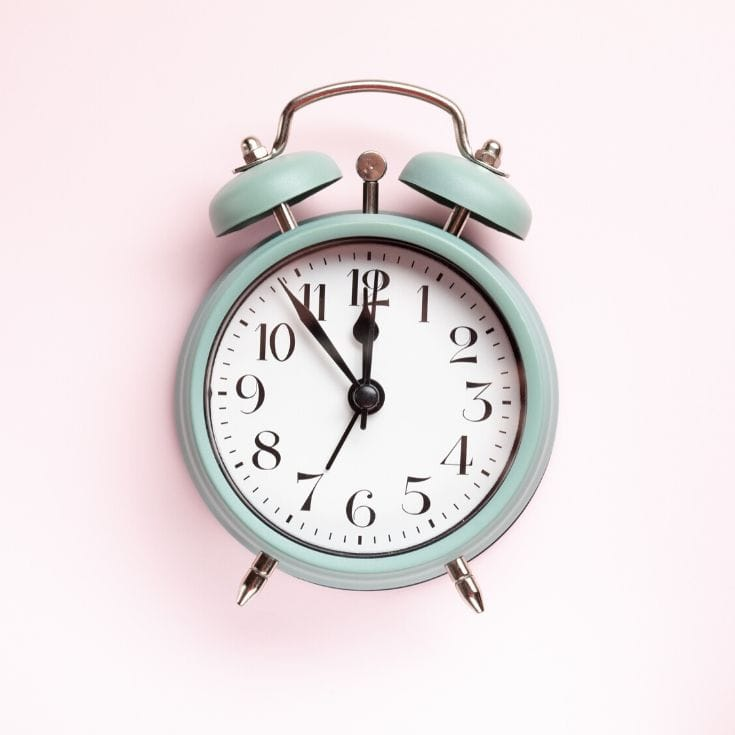 what time should i wake up? alarm clock