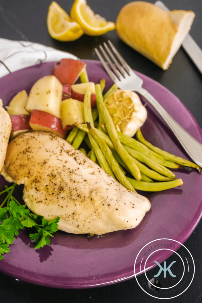 one pan dinner - chicken, green beans and potatoes