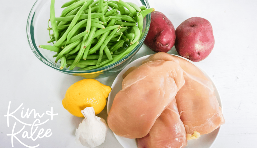 What you'll need to make one pan chicken green beans and potatoes