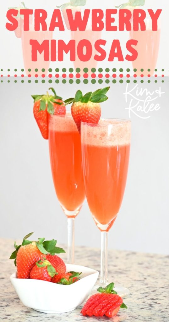 fresh strawberry mimosas