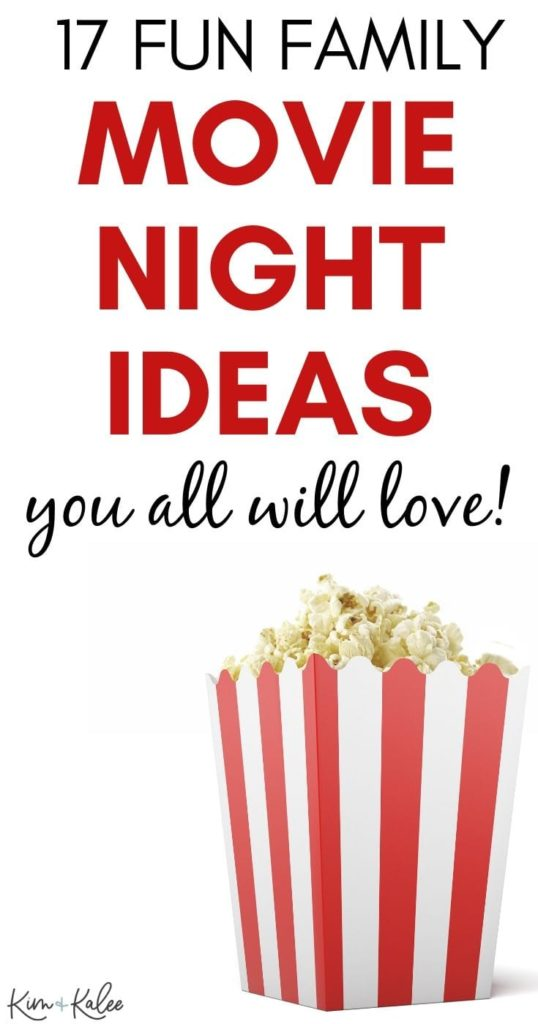 fun at home movie night ideas with a box of popcorn