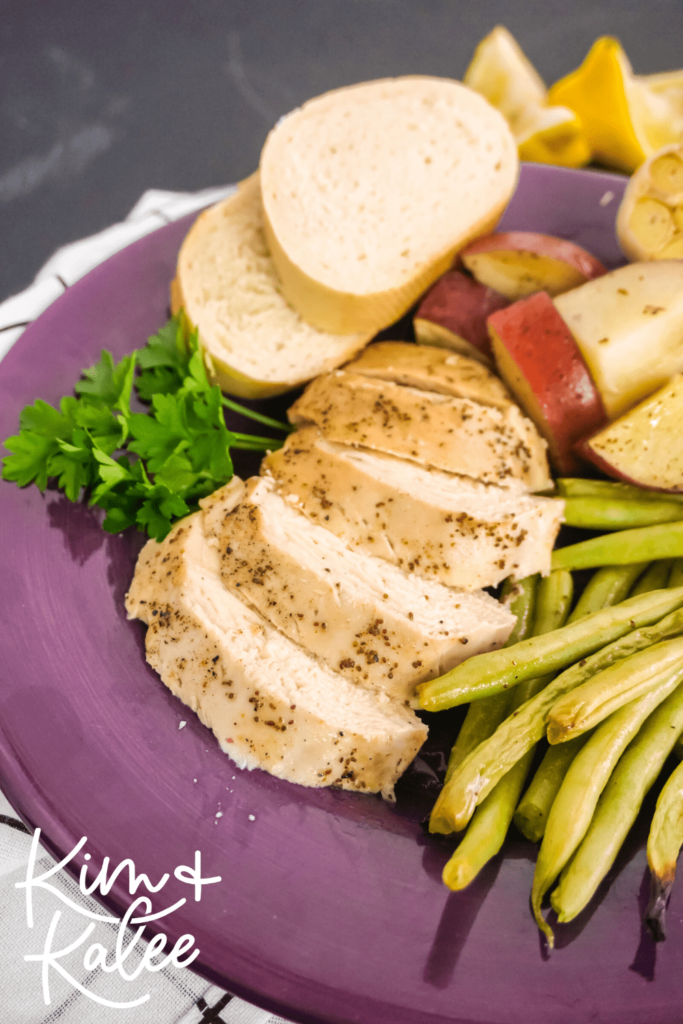 one sheet pan chicken green beans and potatoes