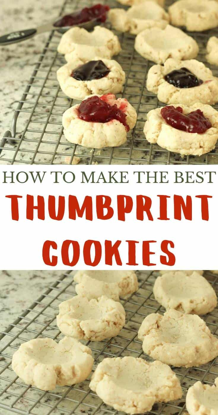 Easy Raspberry Thumbprint Cookies with Nuts Recipe