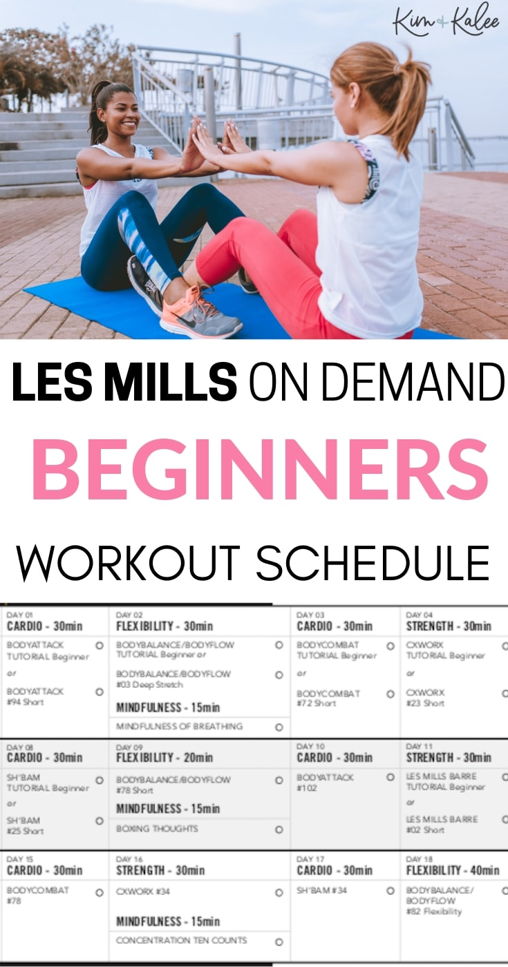 LES MILLS for Beginners Schedule to Do at Home