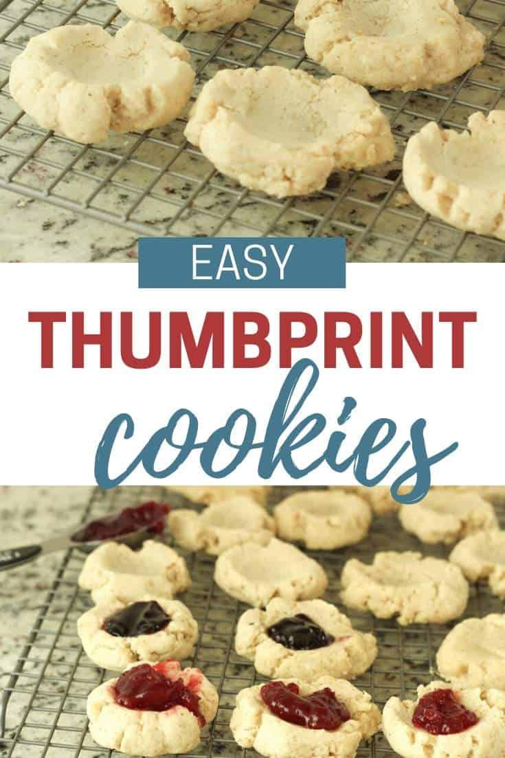 pecan Thumbprint Cookies with jam
