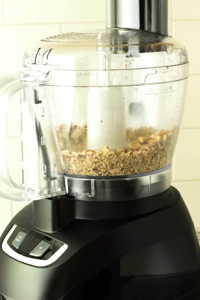 pecans in the mixer