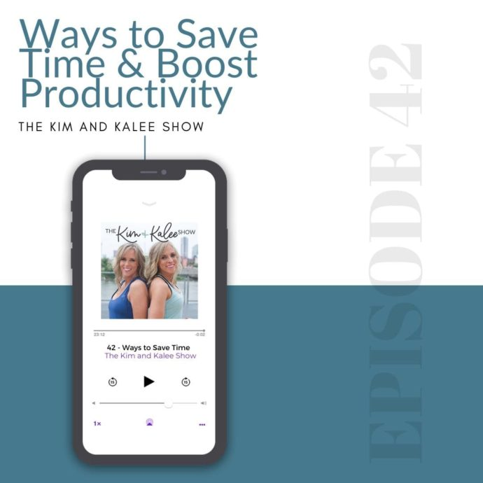 Photo of an iphone with our podcast on how to save time & boost productivity