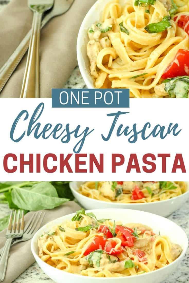 One Pot Italian Pasta and Chicken